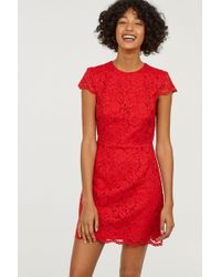 H&M - Lace Dress - Lyst
