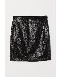 H&M - Glittery Skirt - Lyst