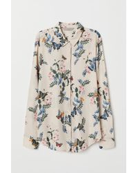 H&M - Long-sleeved Blouse - Lyst