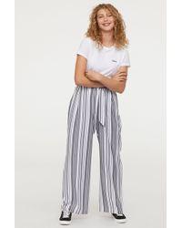 H&M - Wide-leg Pants - Lyst