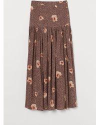 H&M - Lyocell-blend Skirt - Lyst