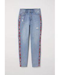 H&M - Slim Mom Jeans - Lyst