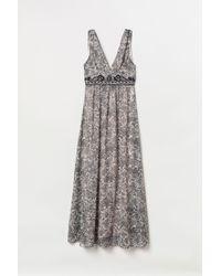 H&M - Beaded Maxi Dress - Lyst