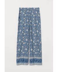 H&M Wide Pull-on Pants - Blue