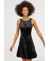 amp;m H Lyst Velour Black In Dress HnFqxA