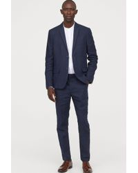 2b23c3c64ce186 H&M Suit Trousers in Black for Men - Lyst