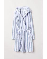 H&M - Fleece Dressing Gown - Lyst