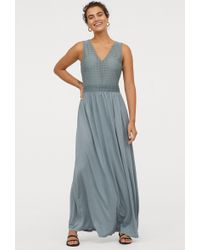 dc5e3457d7a84 H&M Mama Maxi Dress in Blue - Lyst