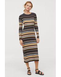 H&M - Ribbed Dress - Lyst