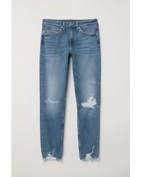 H&M - Girlfriend Regular Jeans - Lyst