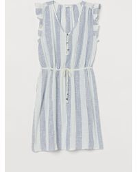 H&M - Cotton Butterfly-sleeved Dress - Lyst