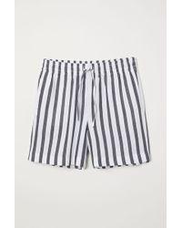 H&M - Gestreifte Shorts - Lyst