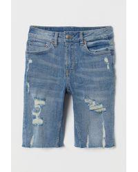 H&M Knee-length Denim Shorts