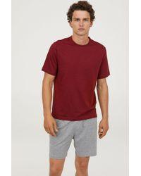 H&M - Pajama T-shirt And Shorts - Lyst