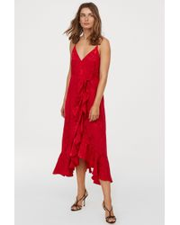 H&M - Jacquard-weave Wrap Dress - Lyst