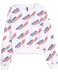 H&M - Sweatshirt With Printed Design - Lyst