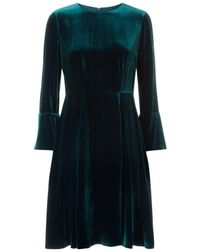 Hobbs - Zinnia Velvet Dress - Lyst