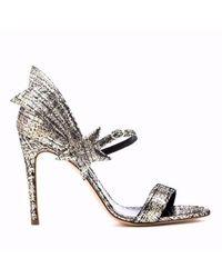 Rupert Sanderson - Starfire High Sandal In Platinum Tweed Laminate - Lyst