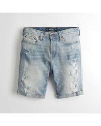 Hollister - Guys Epic Flex Skinny Denim Shorts From Hollister - Lyst