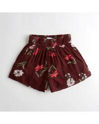 Hollister - Girls Smocked-waist Woven Shorts From Hollister - Lyst