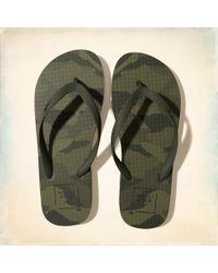 Hollister | Graphic Rubber Flip Flops | Lyst