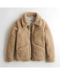 Hollister - Girls Oversized Faux Fur Coat From Hollister - Lyst