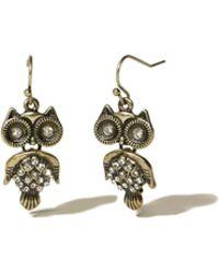 Hollister - Owl Drop Earrings - Lyst