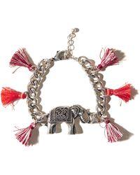 Hollister - Elephant Tassel Bracelet - Lyst