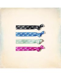 Hollister - Iconic Hair Tie Pack - Lyst