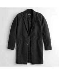 Hollister - Guys Wool-blend Coat From Hollister - Lyst