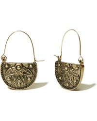 Hollister - Etched Floral Earrings - Lyst