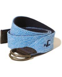 Hollister - Reversible Textured Fabric Belt - Lyst