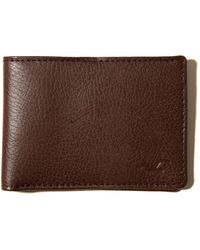 Hollister - Leather Bifold Wallet - Lyst