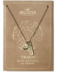 Hollister - Zodiac Charm Necklace - Lyst