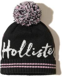 Hollister - Patterned Pom Beanie - Lyst