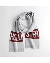 Hollister - Guys Logo Knit Scarf From Hollister - Lyst