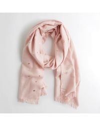 Hollister - Plaid Woven Scarf - Lyst
