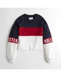 Hollister - Girls Cutoff Logo Crewneck Sweatshirt From Hollister - Lyst