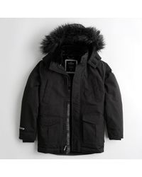 Hollister - Guys Faux-fur-lined Parka From Hollister - Lyst