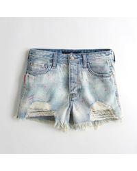 Hollister - Girls High-rise Denim Boyfriend Shorts From Hollister - Lyst