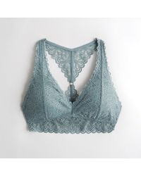 d571db039b2965 Hollister - Girls Lace Racerback Bralette With Removable Pads From Hollister  - Lyst
