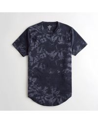 Hollister - Guys Tie-dye Curved Hem T-shirt From Hollister - Lyst