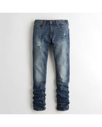 f60b359f1ba4eb Hollister - Guys Advanced Stretch Stacked Skinny Jeans From Hollister - Lyst