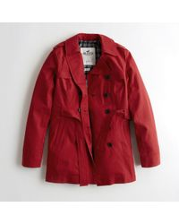 Hollister - Girls Belted Trench Coat From Hollister - Lyst