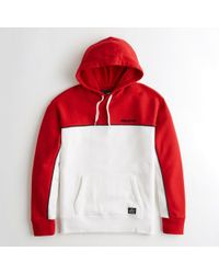 separation shoes 5563d 8c1dc Hollister - Guys Colorblock Logo Hoodie From Hollister - Lyst