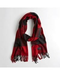 Hollister - Guys Plaid Woven Scarf From Hollister - Lyst