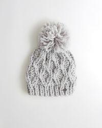 Hollister - Pom-pom Cable Knit Beanie - Lyst