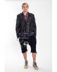 R13 - Refurbished Leather Jacket - Lyst