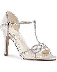 Paradox London Pink - Maddox High Heel Stiletto T-bar Sandals - Lyst
