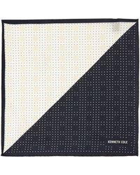 Kenneth Cole - Noto Polka Dot Printed Silk Pocket Square - Lyst